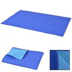 shumee 100x150 cm piknik lepedő kék és világoskék