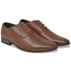Pánske formálne šnurovacie topánky, hnedé, veľkosť 40, PU koža
