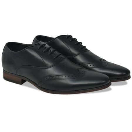 shumee Moški čevlji z vezalkami črni velikost 41 PU usnje