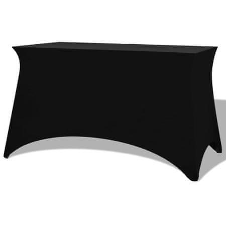 shumee Elastyczny pokrowiec na stół 120x60,5x74 cm, 2 szt., czarny