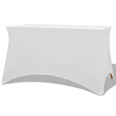 shumee Sztreccs asztal védőhuzat 2 db 243x76x74 cm fehér