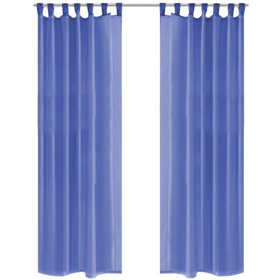 Záves z látky voál, 2 ks, 140 x 175 cm, kráľovský modrý
