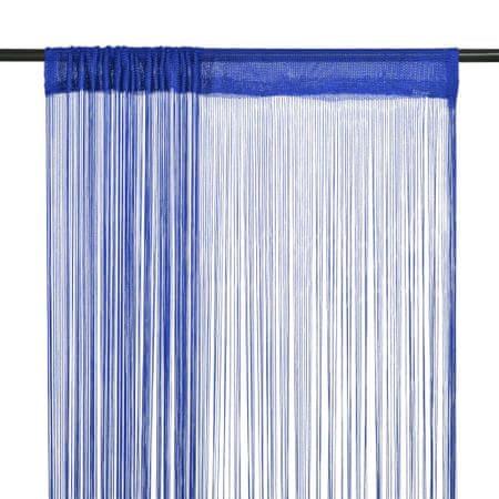 shumee 2 db kék zsinórfüggöny 140 x 250 cm