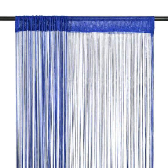 shumee Provázkové záclony, 2 ks, 140x250 cm, modrá