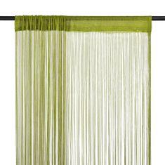 shumee 2 db zöld zsinórfüggöny 140 x 250 cm