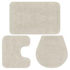 shumee Sada koupelnových předložek 3 kusy textilní bílá