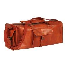 shumee Sportovní taška bronzová pravá kůže