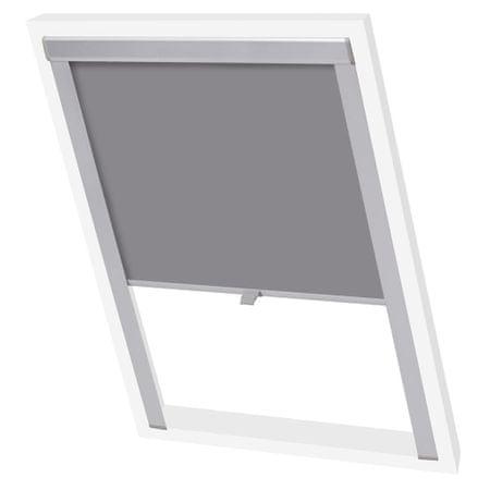 slomart Senčilo za zatemnitev okna sivo MK06
