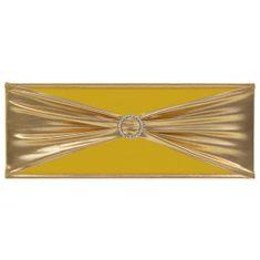 shumee Elastyczne opaski na krzesła, 25 szt., diamentowa klamra, złote