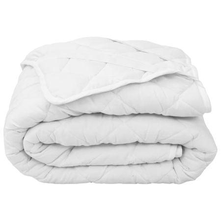 shumee fehér steppelt könnyű matracvédő 120 x 200 cm