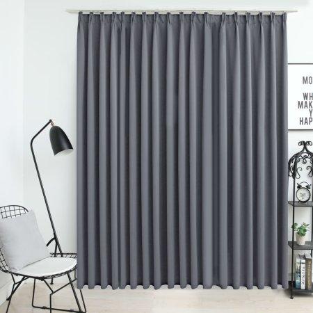 shumee szürke sötétítőfüggöny kampókkal 290 x 245 cm