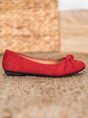 Stylomat Pohodlné semišové baleríny, červená