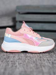 Stylomat Růžové sneakersy se síťkou