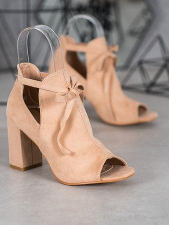 Vinceza Női bokacipo 63254 + Nőin zokni Sophia 2pack visone, bézs és barna árnyalat, 38