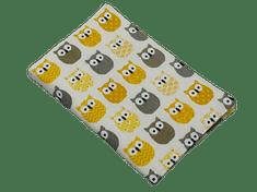 Šišipu Obal na zdravotní průkaz dítěte Žluté sovy