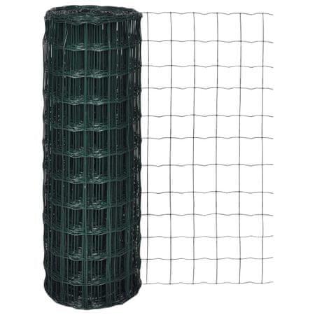 shumee Euro ogrodzenie, stalowe, 10 x 1,5 m, zielone