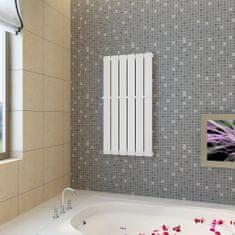 Biely vykurovací panelový regál na uteráky 465mm + vykurovací panel 465 mm x 900 mm