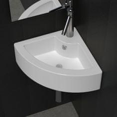 shumee Umývadlo s prepadom 45x32x12,5 cm, biele