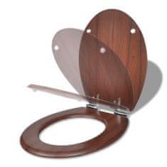 shumee  lassan csukódó egyszerű tervezésű barna MDF WC-ülőke