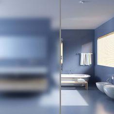shumee Matná okenná fólia na vytvorenie súkromia, mliečne sklo, lepiaca, 0,9x100 m