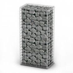 shumee Gabionový koš s víky pozinkovaný drát 100 x 50 x 30 cm