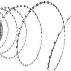 Drut kolczasty NATO, żyletkowy z galwanizowanej stali, 60 m