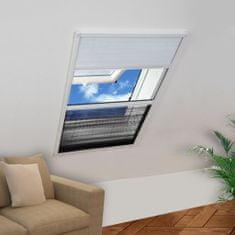 Plisowana moskitiera okienna, 160 x 80 cm, z osłoną