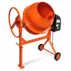 shumee Oranžová miešačka betónu z ocele 140L 650W
