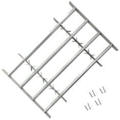 shumee Nastavitelná bezpečnostní okenní mříž se 4 příčlemi 1000–1500 mm