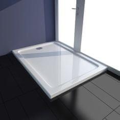 shumee Obdélníková sprchová vanička ABS bílá 70 x 100 cm