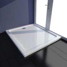 shumee Obdélníková sprchová vanička ABS bílá 80 x 90 cm