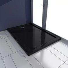 shumee Obdĺžniková sprchová vanička z ABS, čierna 70x100 cm