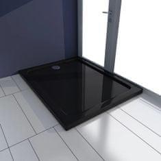 shumee Obdĺžniková sprchová vanička z ABS, čierna 70x90 cm