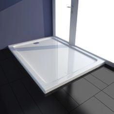shumee Obdélníková sprchová vanička ABS bílá 80 x 110 cm