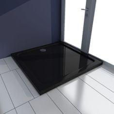 shumee Obdélníková sprchová vanička ABS černá 80 x 80 cm