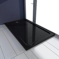 shumee Obdĺžniková sprchová vanička z ABS, čierna 70x120 cm
