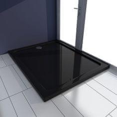 shumee Obdĺžniková sprchová vanička z ABS, čierna 80x100 cm