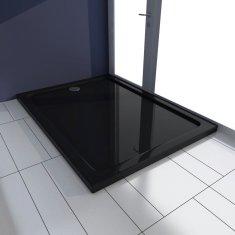 shumee Obdélníková sprchová vanička ABS černá 80 x 110 cm