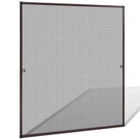 Brązowa moskitiera przeciw insektom 130 x 150 cm