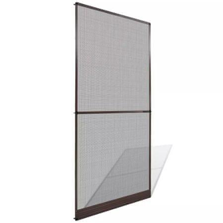 Moskitiera na drzwi z brązową ramą, 100 x 215 cm