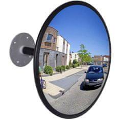 shumee Dopravní zrcadlo z akrylu černé 30 cm