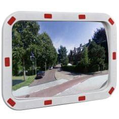 shumee Dopravní vypouklé zrcadlo obdélníkové 40 x 60 cm s odrazkami