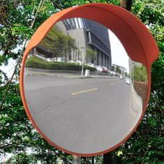 shumee Dopravní vypouklé zrcadlo PC plast oranžové 45 cm venkovní