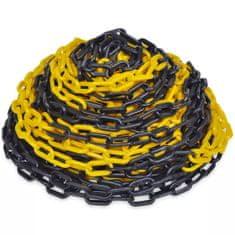 shumee Žlto čierna plastová výstražná reťaz 30 m