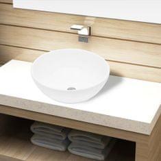 shumee Keramické koupelnové umyvadlo bílé kulaté
