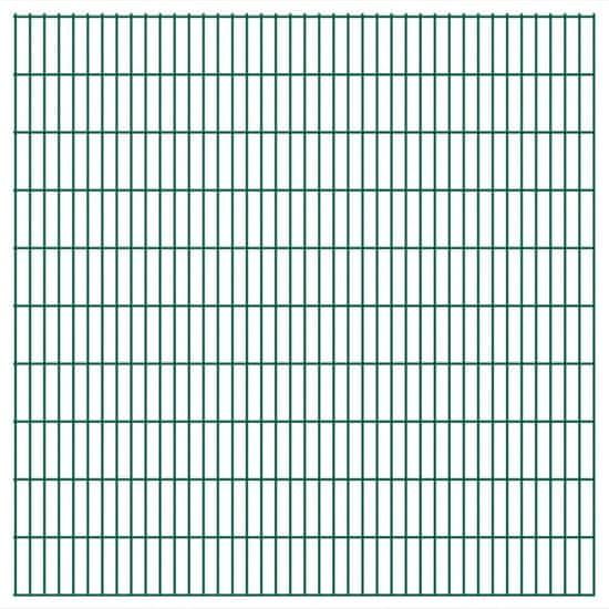 Vidaxl 2D zahradní plotové dílce 2008x2030 mm, 14 m, zelené