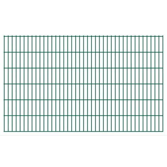 2D zahradní plotové dílce 2008x1230 mm, 6 m, zelené