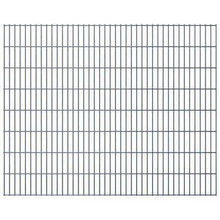shumee Panele ogrodzeniowe 2D, 2,008 x 1,63 m, 8 m, szare