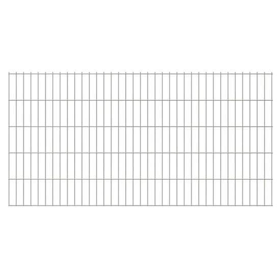 shumee 2D zahradní plotový dílec 2,008 x 1,23 m stříbrný