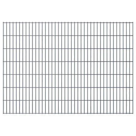 shumee Panele ogrodzeniowe 2D, 2,008 x 1,43 m, 12 m, szare